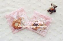 Darmowa wysyłka 50/dużo plastikowe różowe koronki herbatniki/cupcake cookie torby do pakowania(China (Mainland))