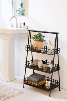 Minimalist bathroom 440508407302138612 - 46 Charming Small Bathroom Storage Remodel Ideas Source by bonniepacheco Minimalist Bathroom Furniture, Bathroom Interior, Bathroom Ideas, Bathroom Mirrors, Bathroom Cabinets, Bathroom Countertop Storage, Bathroom Cart, Bathroom Hacks, Simple Bathroom