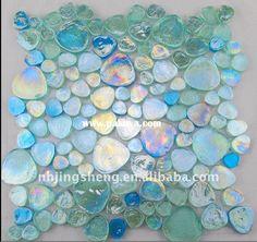 Beautiful iridescent glass tiles. http://www.pakuya.com/upload/20110823/Beautiful_glass_mosaic_tile_jsm_0198.jpg