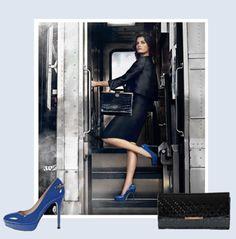 Carlo Pazolini Fall Trend #pump #heel #blue #trend #clutch #purse #wallet #travel #jetset