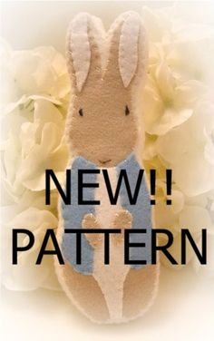 Items similar to pattern felt easter peter rabbit cookie ornament PATTERN ONLY on Etsy Peter Rabbit Nursery, Peter Rabbit Party, Felt Ornaments Patterns, Felt Patterns, Felted Wool Crafts, Felt Crafts, Beatrix Potter, Easter Crafts, Holiday Crafts