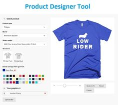 192a16c8c162 #onlinedesignsoftware #productdesignertool T Shirt Design Software, Shirt  Mockup, Starting A Business,