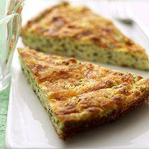 Cheese and zucchini puff