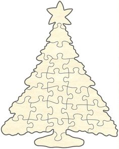Blankopuzzle - Christmas Tree, 24 Pieces