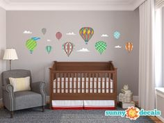 Hot Air Balloons Wall Decals - Standard - Sunny Decals