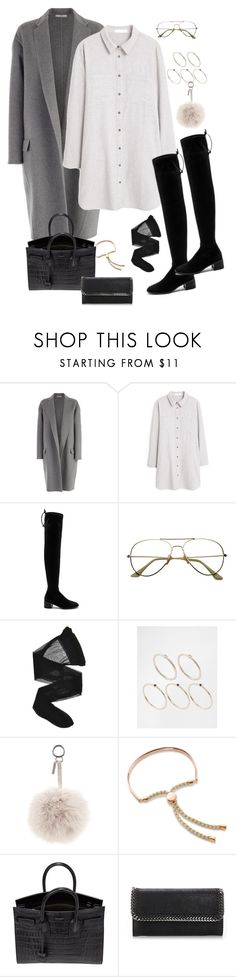 """""""Untitled #790"""" by minhie-inspiration ❤ liked on Polyvore featuring CÉLINE, MANGO, Free People, Wolford, Pieces, Fendi, Monica Vinader, Yves Saint Laurent and STELLA McCARTNEY"""
