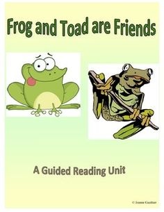 This guided reading unit covers all 5 stories found in Frog and Toad are Friends - Spring, The Story, A Lost button, A Swim and The Letter.  Includes a variety of questions for before, during and after reading, and a lesson plan and follow up activities for each story.