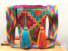 #wambabags #handmade #colombian #womensbag #boho #fashion #moda #chic #womensfashion #wayuulovers #wayuubag #colors #unique #trendy #bag #style #bolsas #tejido #colombia #musthave #hechoamano #artesania #tejidoartesanal #playadelcarmen #tulum #cancun #cozumel #guadalajara #puebla Cozumel, Cancun, Tassel Necklace, Boho Fashion, Tassels, Mexico, Colors, Sweaters, Colombia