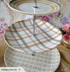Crown Lynn 3 Tier Cake Stand for sale on Trade Me, New Zealand's auction and classifieds website Tv Trays, Serving Trays, Vintage Party, Retro Vintage, Cake Stands For Sale, 3 Tier Cake Stand, Vintage Cake Stands, Vintage Crockery, Party Dishes