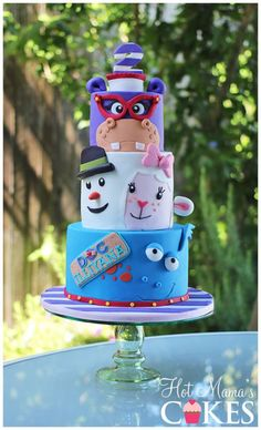 I can't take any credit for the design of this cake. The birthday girls dad is an artist and wanted to give the design of the cake a try. I thought he did a great job. I thought it was really creative and unique. I'm just glad I was able to bring... | Doc McStuffins Birthday Party Ideas | Doc McStuffins Party | Doc McStuffins | Doc McStuffins Cake | Disney Cake | Disney Preschool Cake |