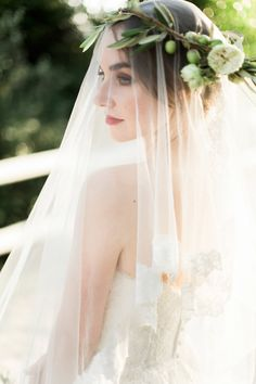 Image by The Barefoot Brunettes - Bespoke Robyn Roberts Wedding Dress For A Rustic Wedding At Old Mac Daddy South Africa With Bride In Olive Branch Headdress And Images by The Barefoot Brunettes