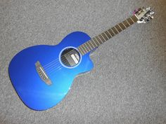 Rainsong P12B Blue Parlor Acoustic Electric Guitar! Awesome Guitar! LOOK!!