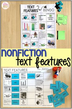 This nonfiction text features anchor chart posters and activities resource is perfect for kindergarten, first grade, 2nd, and 3rd grade students learning to comprehend nonfiction texts at a deeper level. The text features graphic organizers and activities are easy to prep for teachers and engaging for students. #teachingnonfiction #textfeatures #nonfictiontextfeatures