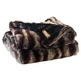 Found it at AllModern - Ribbed Chinchilla Faux Fur Throw Blanket with Black Velvet-Velour Lining