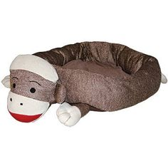 Sock Monkey Dog Bed - - DogToys.com