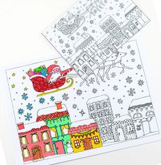 Printable Christmas Coloring Pages and Cards | AllFreeChristmasCrafts.com