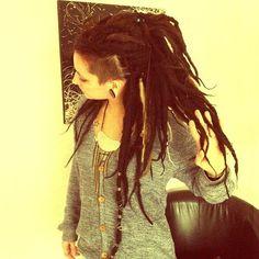 #dreads #hair #dreadlocks #black #sideshave