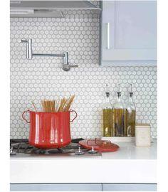 Revestimento prático para a cozinha.