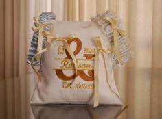 DSC_2046 Ring Pillows, Garter Set, Wedding Garter, Burlap, Custom Design, Reusable Tote Bags, Hessian Fabric, Ring Bearer Pillows, Jute