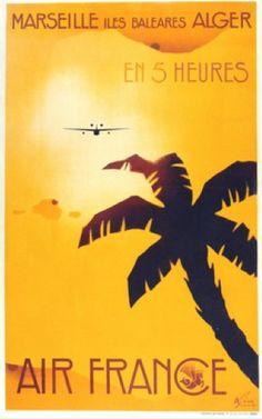 Marseille-Balearic Islands-Algeria in 5 Hours - Air France