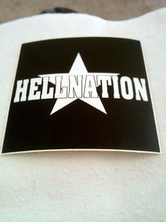"Hellnation 4""x4"" STICKER DECAL deadstock new old stock"