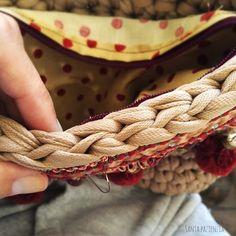 Coser una cremallera a un bolso de trapillo Santa Pazienzia