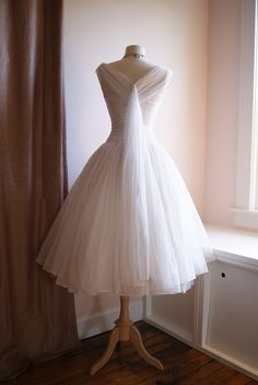 1950's frosted chiffon wedding dress, available on Etsy and in the bridal salon