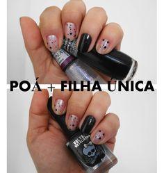 #esmaltedasemana > poá + filha única = pretinho 'nada' básico!