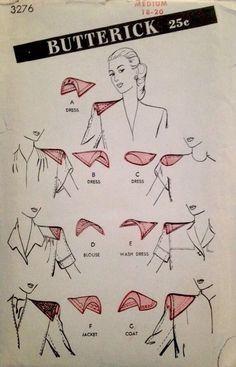 1940's Vintage Miss' Dress Shoulder Pads Set Butterick Sewing Pattern #4276 *FF*                                                                                                                                                     More