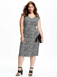 Pintuck Plus Size Trapeze Dress Product Image