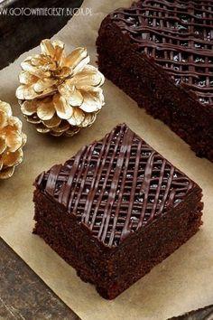 Lepki piernik z powidłami i czekoladą Delicious Cake Recipes, Yummy Cakes, Sweet Recipes, Dessert Recipes, Polish Desserts, Polish Recipes, Low Carb Desserts, Just Desserts, Lime Cake