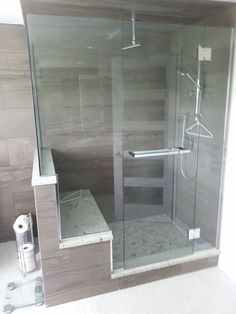 Beautiful Glass Shower with Seat