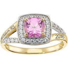 Keystone Fashion Class Ring  #ClassRings #Fashion #Rings