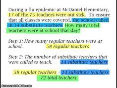 Grades to ~ Multi-step Word Problems: Whole Numbers 5th Grade Math, Grade 3, Third Grade, Math Teacher, Teacher Stuff, Flu Epidemic, Long Division, Word Problems, 5th Grades