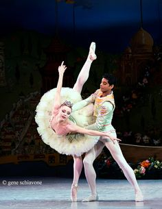 """Sara Mearns and Amar Ramasar of NYC Ballet in George Balanchine's """"The Nutcracker"""". Photo:Gene Schiavone"""