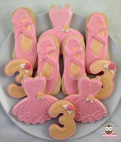 Ballet cookies, Ballet show cookies, Tutu cookies, pretty cookies