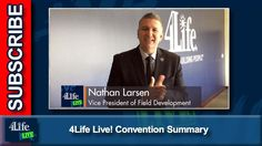 4Life Live! Convention Summary-Published on Oct 20, 2016  Vice President of Field Development 4Life Nathan Larsen summarizes the Convention 2016: United experience. He expresses his excitement about introducing Magic Johnson, talking with Laura Posada, and meeting many of you!