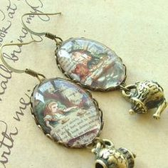 A Mad Tea-Party Charm Earrings - Alice In Wonderland