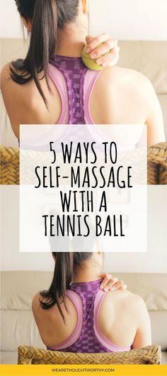[VIDEO included] Having back pain, sore neck or stiff shoulders? Click through to find out how to do an easy and effective self-massage at home, using just tennis balls!