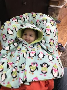Car Seat Poncho Cold Weather Gear Car Seat Cape Blanket For Kids Infant Toddler Kids Children Baby Winter Coat Jacket Hoodie Buffalo Plaid