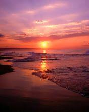 Papel de Parede para Celular - Pôr do Sol na Praia 176x220