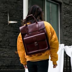 Durable, hard-wearing leather and heavy duty fastenings. If you're going to carry your life around in a bag, it should be one that'll last. Backpack Bags, Leather Backpack, Fashion Backpack, Dr Martens Backpack, Dr. Martens, Unique Backpacks, Baggage, Streetwear Fashion, Carry On