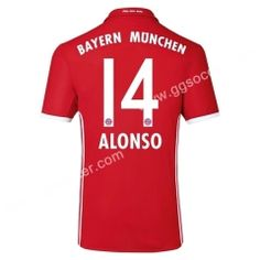 2016/17 Bayern München ALONSO Home Red Thailand Soccer Jersey
