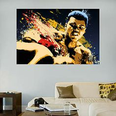 Muhammad Ali Stung - Illustration Mural Fathead Wall Decal
