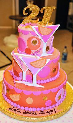 Super Birthday Cake For Girls Turning 21 Pink Ideas Birthday Cake Martini, Martini Cake, Cocktail Cake, 21st Birthday Cake For Girls, 21st Birthday Ideas For Girls Turning 21, Birthday Nails, Cake Birthday, Beautiful Cakes, Amazing Cakes