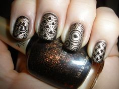 indian styled nails so cute for the autum
