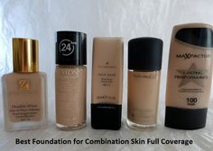 Using Full Coverage Foundation on Combination Skin