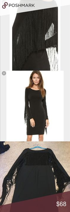 Black fringe dress. Beautiful. Very stylish. Excellent condition. 5th & Mercer Dresses