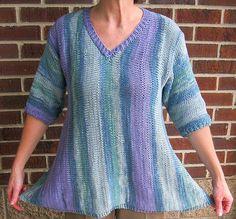 eb976a7c64ed6f Items similar to Sideways Summer Swing Top on Etsy. Easy Knitting PatternsWeaving  ...