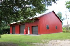 40' x 60' Garage (Amherst MA) red metal